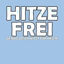 Hitze Frei Hitzefrei Schule Lustig Sommer Geschenk Männer Premium T