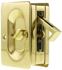 pocket door lock. premium quality mid-century pocket door privacy lock set
