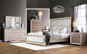 image great mirrored bedroom furniture. Ailey Bedroom Furniture With Mirrored Accents Image Great