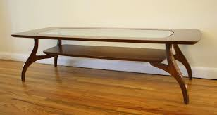 ... Glass Top Coffee Tables Chic Elegant Brown Painted Wooden Coffee Table  Clear Glass Top Coffee Table ...