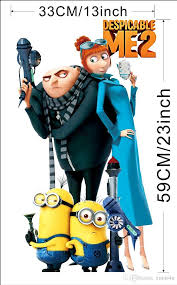 Minion Bedroom Despicable Me 2 Minion Children Wall Stickers Gru Lucy Cartoon