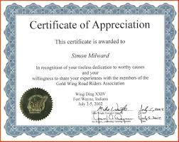 Sample Blank Certificate Of Appreciation Ideal Sample Certificate Of