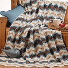Ripple Afghan Pattern Free New Ripple Afghan Red Heart