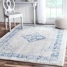 vintage flower medallion light blue area rug 8 x with light blue area rugs plans light