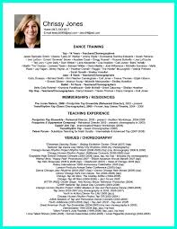 Resume Format For Dance Choreographer Dance Resume Can Be Used For Both Novice And Professional Dancer 9