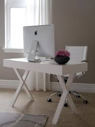 modern home office computer desk clean modern. Delicate Style Of White Contemporary Computer Desk With X Shape Legs. Impressive Home Office Modern Clean