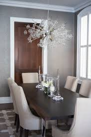 chrome and wood dining table