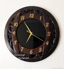 <b>Часы настенные круглые</b> из <b>дерева</b> и стекла – купить на ...