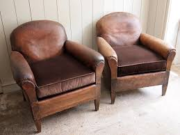 pair of leather club chairs puckhaber decorative antiques specialists in french decorative antiques for over 30 years in new romney kent and lillie