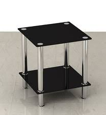 Coffee Table:Small Black Glass Coffee Table Black Or Clear Glass Stainless  Steel Small Display Gallery