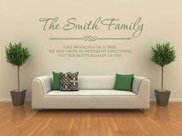 Small Picture PERSONALISED Family Wall Art Quote Wall Sticker Decal Modern