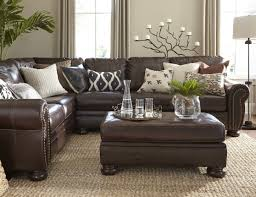 dark brown leather furniture decorating ideas. Leather Couch Decorating Ideas Living Room Alluring Dark Brown Sofa Beautiful With Furniture
