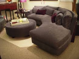 Rounded Sectional Sofa Furniture Grey Fabric Sectional Couch Design With  Round Table And