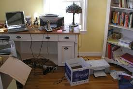 simply organized home office. Home Office Desk Before Simply Organized O