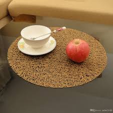 dinner 38cm round table mat for wedding hotel table non slip pvc place mat environmental