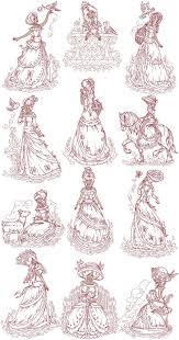 Vintage Embroidery Designs Machine Victorian Ladies Machine Embroidery Designs Embroidery
