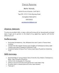 Dancer Resume Template Awesome Dance Resume Template Cteamco