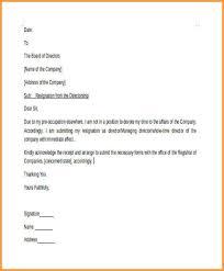 Sample Resignation Letter From Board Member Director Resignation Letter Major Magdalene Project Org