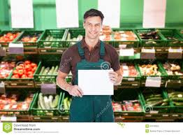 male s clerk holding a placard stock photo image  male s clerk holding a placard