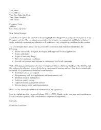 Recommendation Letter For Programmer Sample Java Programmer Cover Letter Application Letter For Computer