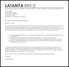 Substance Abuse Social Worker Cover Letter Counselor Sample ...