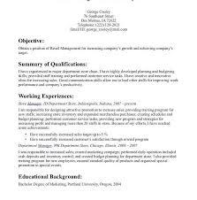 Retail Customer Service Resume New Resume Templates Create Good