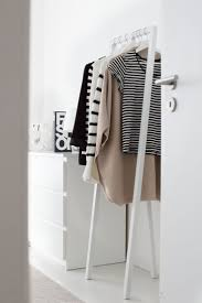 ... Wardrobe Racks, Standing Clothes Rack Heavy Duty Garment Rack White  Lacquered Clothes Rack Simple Designed ...