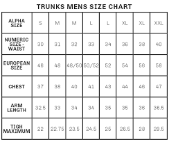 74 Prototypic Swim Trunks Size Chart