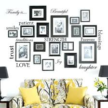 family frames wall decor set of family e words vinyl wall sticker picture frame wall family tree wall decor with frames