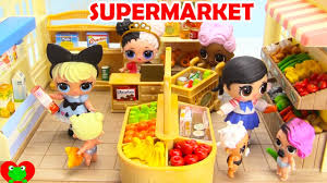 lol surprise doll goes ping and learns grocery foods