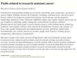Research Assistant Resume Sample Objective Clinical Associate Images