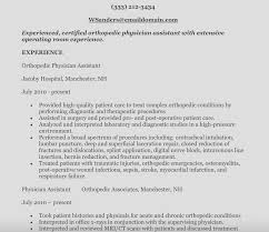 Physician Assistant Resume Template Enchanting Physician Assistant Resume Sample Physician Assistant Sample Resume