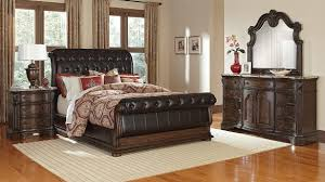 F Home Interior Sturdy American Signature Furniture Bedroom Sets Monticello  6 Piece Queen Upholstered Sleigh Set