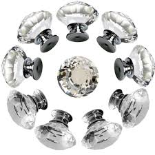 Amazon.com: NORTHERN BROTHERS Drawer Knob Pull Handle Crystal Glass Diamond  Shape Cabinet Drawer Pulls Cupboard Knobs with Screws for Home Office  Cabinet ...
