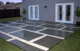 poured concrete pavers create a stylish patio the home depot