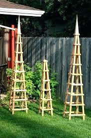 garden obelisk trellis. Garden Obelisk Plan Wooden Trellis Wood If I Have A Small .