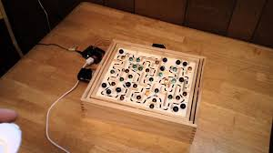 Wooden Marble Maze Game Arduino Controlled Labyrinth Marble Maze Game w Wii Nunchuck 21