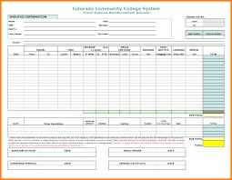 Car Mileage Claim Form Unique Mileage Reimbursement Form Excel Konoplja Co
