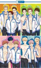 It might be a funny scene, movie quote, animation. Fanart Exo Swimming Anime Discovered By Lumaidenlu