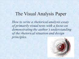 the visual analysis paper ppt video online  1 the visual analysis paper