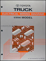 1994 toyota pickup truck wiring diagram manual original