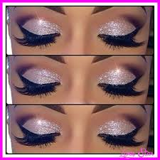 makeup white glitter eye shadow