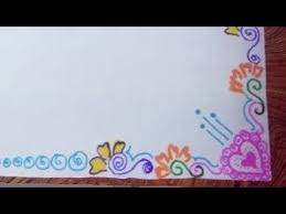 How To Draw Decorate Border Of File Paper Chart Or For Carts