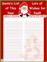 Free Christmas Wish List Printable Such A Cute And Fun Way To Make A