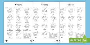 A collection of english esl worksheets for home learning, online practice, distance learning and english classes to teach about french, french. Ks1 French Colours Worksheet Primary Resources