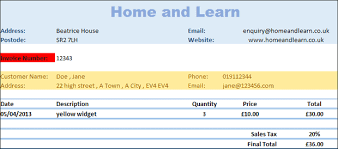Create A Business Invoice Microsoft Excel Tutorials A Business Invoice With Vlookup Part One