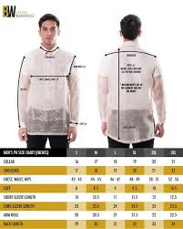 Men S Wearhouse Size Chart Barong Tagalog For Men The Perfect Fit Barong Warehouse