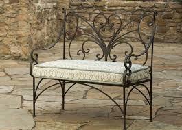 Classic Outdoor 4ft Wood Metal Garden Bench With Bronze Palm Tree Garden Metal Bench