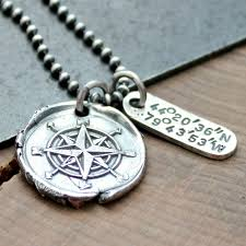 longitude and laude silver necklace personalized men s jewelry
