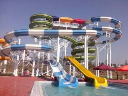 outdoor commercial sprial fiberglass water slides combination water park attraction